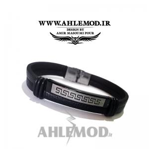 دستبند چرم طبیعی طرح ورساچه اسپرت