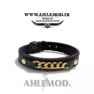 دستبند چرم طبیعی طرح کارتیر اسپرت