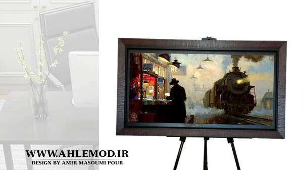 تابلو عکس دکوراتیو طرح آلفرد و قهوه داغ